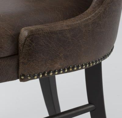 Fine dining chair upholstered seat and back close up