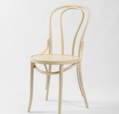 metal side chair with seat pad beige