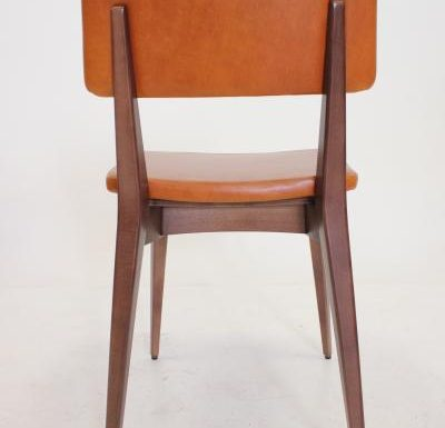 Black and white and gold and black beech side chairs brown back