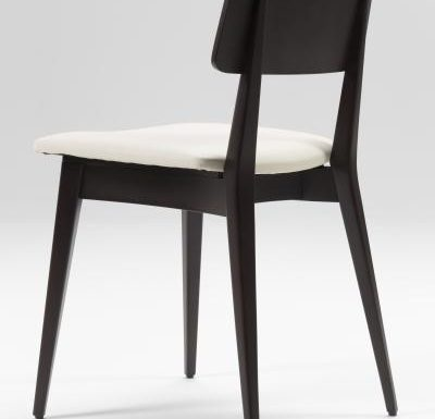 Black and white and gold and black beech side chairs black rear