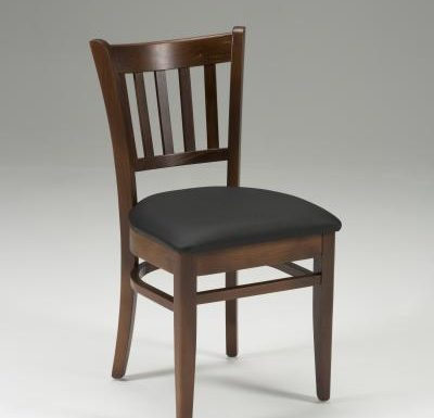 Very strong indoor dining chair black front