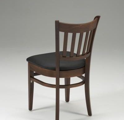 Very strong indoor dining chair black rear