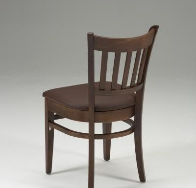 Very strong indoor dining chair brown back