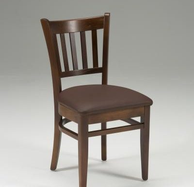 Very strong indoor dining chair brown front view