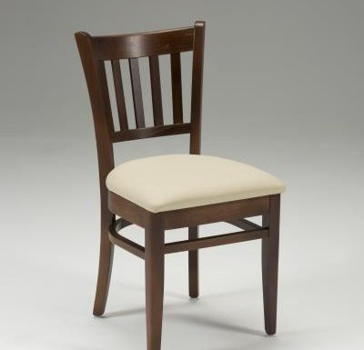 Very strong indoor dining chair beige front view