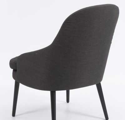 upholstered lounge or club chair with a curved back design 1