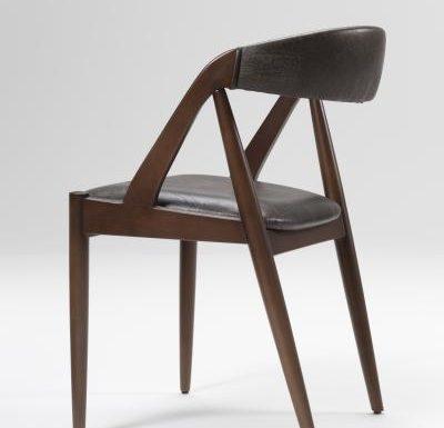 Beech leg frame side chair rear view
