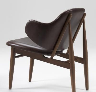 Feature armchair with a classic design rear view