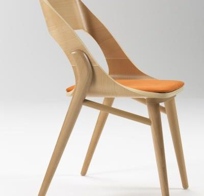 beech leg frame side chair light side view