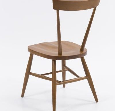 Classic side chair with clean simplistic lines rear view