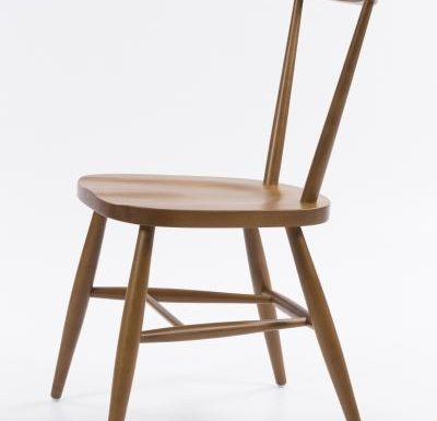 Classic side chair with clean simplistic lines side view