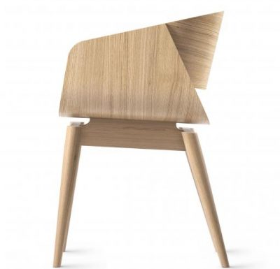 feature chair with a plywood shell and hardwood frame 2