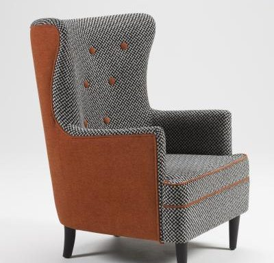oxford armchair side view