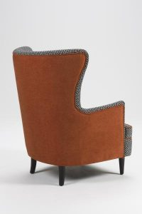 oxford armchair rear view