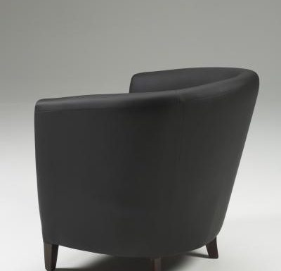 Jensen Tub Chair rear view black