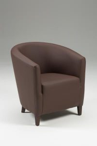 Jensen Tub Chair brown side view
