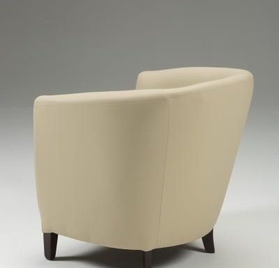 Jensen Tub Chair beige side view
