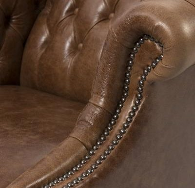 brompton armchair arm close up