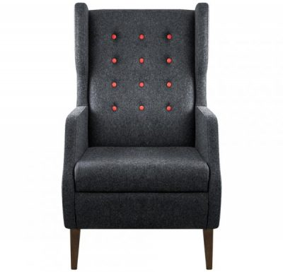 fulham highback armchair front view