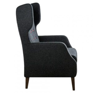 fulham highback armchair side view