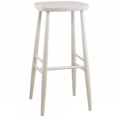 Parlour Stool white front view