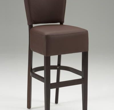 Tobi Barstool brown front view