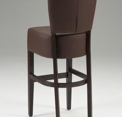 Tobi Barstool brown rear view