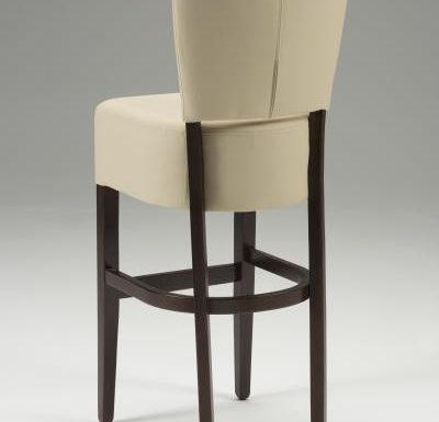 Tobi Barstool beige rear view