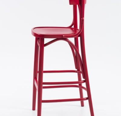 Trattoria Highstool side view red
