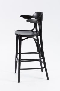 Trattoria Highstool side view black