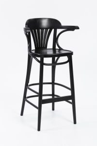 Trattoria Highstool front view black