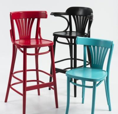 Trattoria Highstool red black and blue