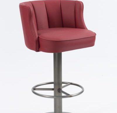 Memphis Barstool red upholstery