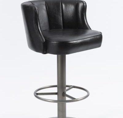 Memphis Barstool black upholstery
