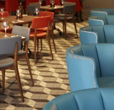 Memphis Barstool in restaurant