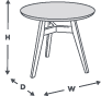 coffee table dimension icon